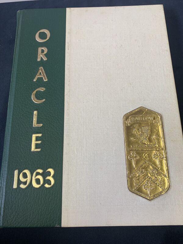Used Oracle Joel Barlow HIghschool Easton/Redding CT Yearbook 1963 Inc Supp 416F