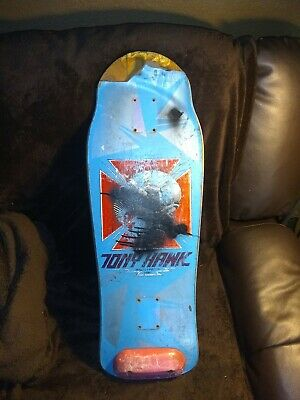 Vintage Rare 1986 Powell Peralta Tony Hawk Bird Skull Skateboard Hard 2 Fnd Blue