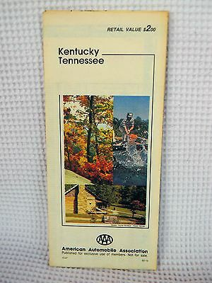 Vintage Aaa Travel Map Of Kentucky   Tennessee  1982 Edition  In Great Shape