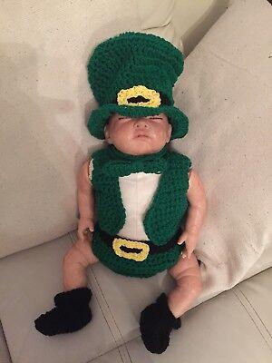 patricks day leprechaun 5 piece outfit baby photo props (Baby St Patricks Day Outfit)