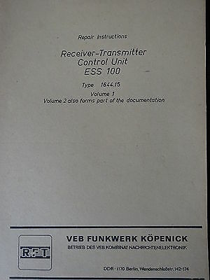 ESS100 englische Reparaturanleitung Bd.1, Repair Instructions /  RFT/FWB