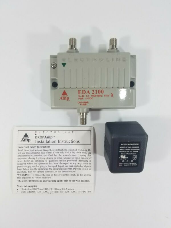 Electroline EDA 2100 Drop AMP Amplifier with Ancon Transformer New