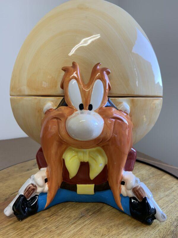 """Warner Bros YOSEMITE SAM 12"""" Cookie Jar 1993 Certified International"""
