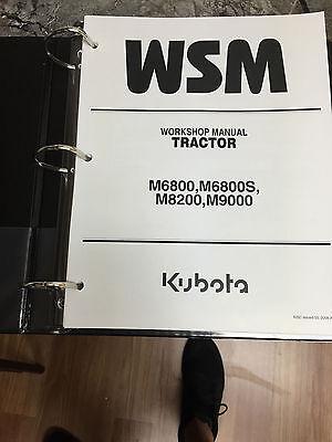 Kubota M6800 M6800s M8200 M9000 Workshop Service Repair Manual Tractor