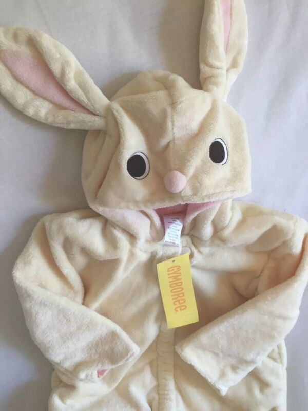 NWT Gymboree Easter Bunny Rabbit Halloween Costume Plush Baby Bunting 0-6 Months
