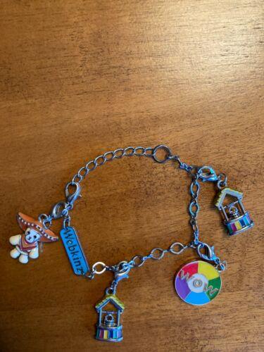 Adorable Webkinz Charm Bracelet 4 Charms Poncho Wishing Well WOW