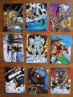 WOLVERINE FROM THEN TILL NOW TRADING CARDS 10-18 MARVEL 1992 COMIC BOOK