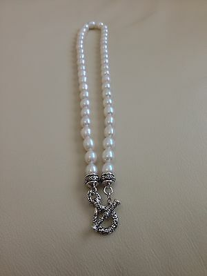 Honora Sterling Silver Freshwater Cultured Pearl Toggle Necklace Cultured Freshwater Pearl Toggle Necklace