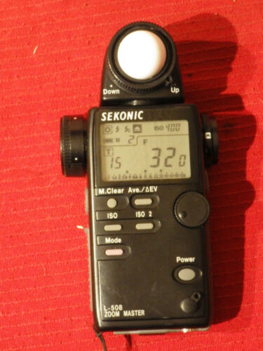 Sekonic L-508 Zoom Master Digital Light Meter Exposure