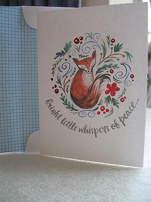 Hlmk Little Fox Whispers of Peace Christmas Cards by Mariya Pillipenko 12ct - Peace Christmas Boxed Card