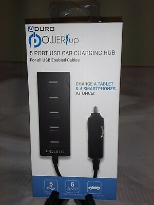 Aduro Power-up 5 Port 6 Amp Car Charging Hub For...