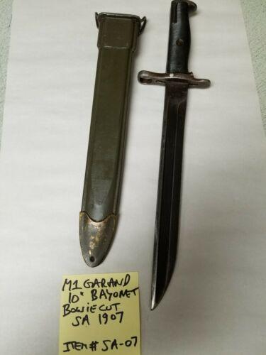 WWII GARAND S.A. BOWIE CUT  BAYONET 10