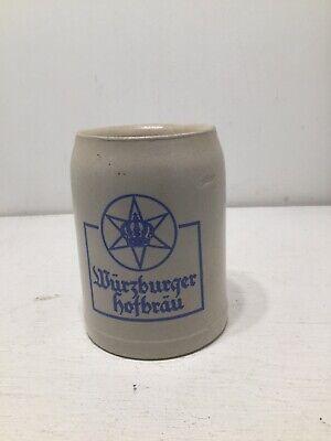 GERMAN WURZBURGER HOFBRAU STONEWARE BEER STEIN MUG 1/2 .5 LITER GERMANY