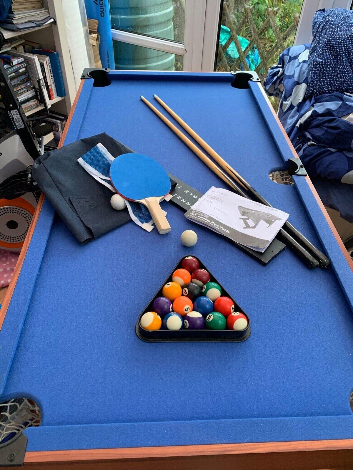 Kids Folding BCE Le Club Pool/Snooker Table 4'6
