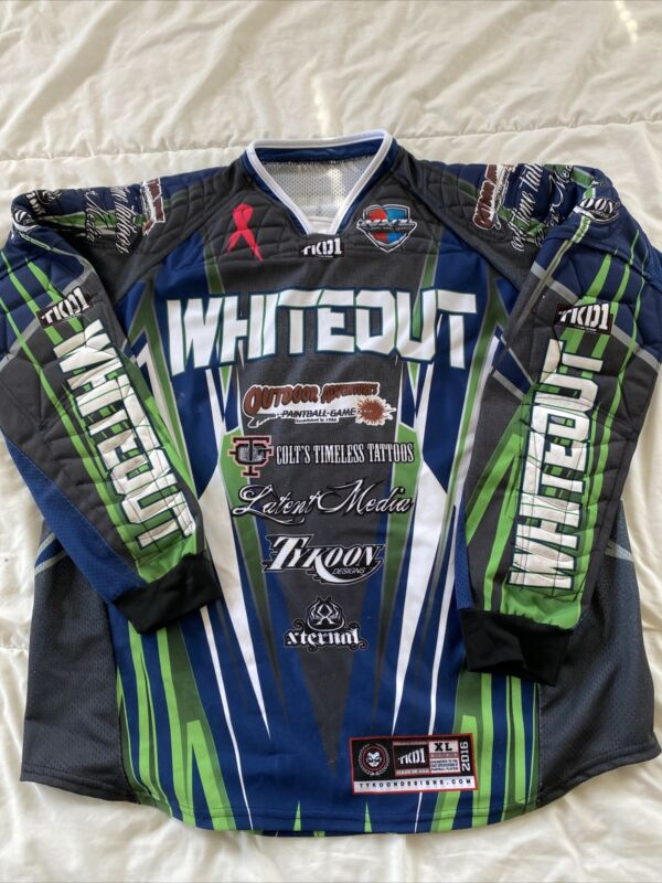 Tykoon Padded Paintball Jersey Shirt XL Team Whiteout - Fast Shipping!