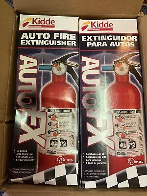Lot Of 2 Kidde Fire Auto Fire Extinguisher Model Fx5 Ii 5 Bc Rated Brand New