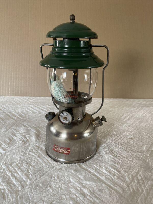 1954 Coleman Sunshine Lantern 202 1-55 with Pyrex  Globe
