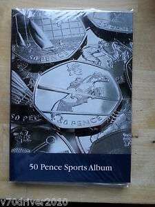 London Olympic 50p Collectors Coin Album for 29 Coins Lighthouse NO MEDALLION