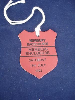 2 - Horse racing - Card Badge - Newbury - Members - 17th July 1993