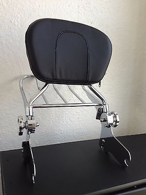 Detachable Backrest Sissybar and luggage Rack for Harley Davidson Touring 97-08