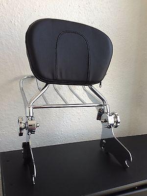 Detachable Backrest Sissy Bar and Luggage Rack for Harley Davidson Touring 97-08