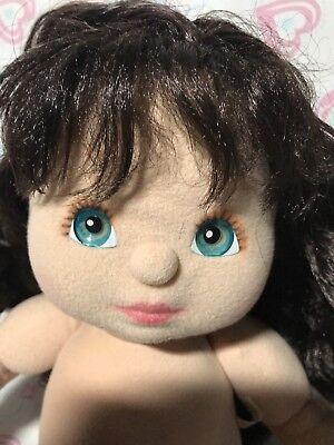 1985 My Child Doll Aussie Brunette Midpart Ringlet Teal Eyes Purple Jumper