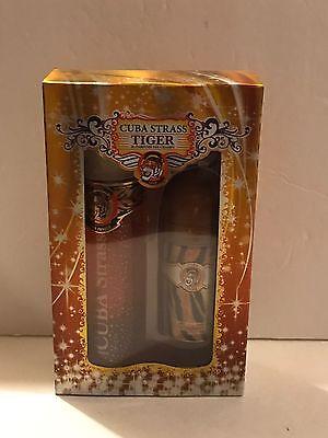 Cuba Strass Tiger Set for Women EDP Spray 3.4 oz + Deodorant Stick New In Box Cuba Deodorant Eau De Parfum