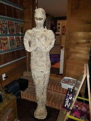 working Gemmy Lifesize Mummy Animated light up talking Halloween Prop