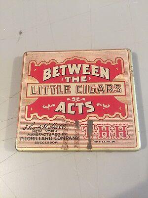 Vintage Advertising Tobacco Cigar Tin, Between The Acts, Lorillard, THH