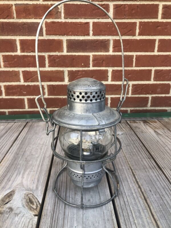 Very Nice Clean Southern Railway Clear Marked Globe Lantern Adlake CNO&TP