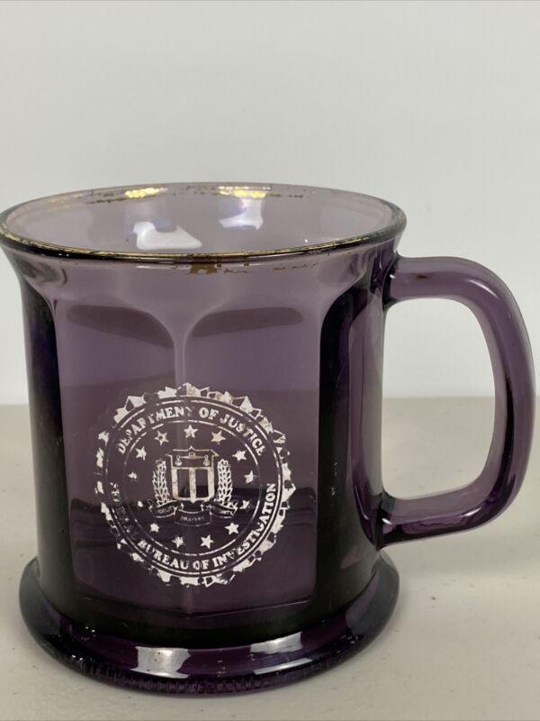 Department Of Justice FBI PURPLE Coffee Mug Made In US