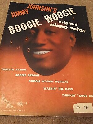 - BOOGIE WOOGIE PIANO JIMMY JOHNSON From 1943 songbook sheet music  jazz blues
