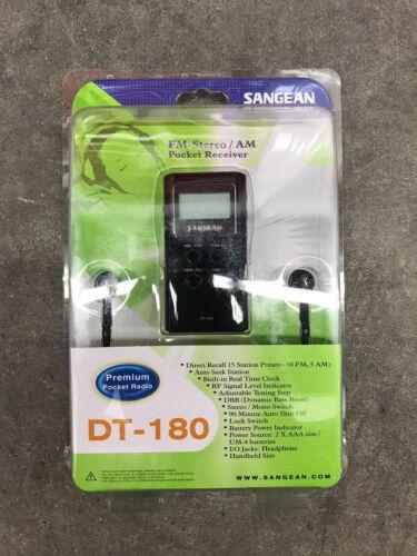 NEW SANGEAN DT180BLK Pocket Am/fm Digital Radio