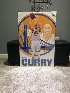 LARGE STEPHEN CURRY BASKETBALL PLAQUE! Best offer takes it!!