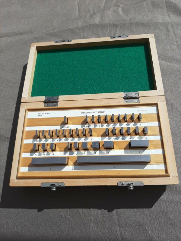"""36 pc Steel Gage Block Set,  Workshop Grade +- .000050"""" Poland"""