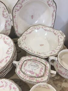 "Antique dishes ""Harmony Rose"" Meakin English china"