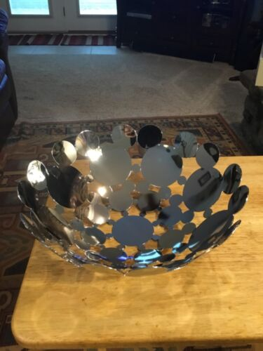 Disney Store Mickey Mouse Icon Metal Serving Bowl Decoration Display Art
