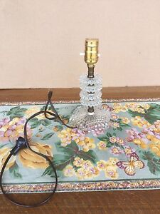 Antique glass lamp stand