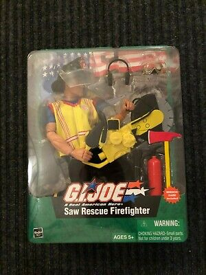 Hasbro G.I. JOE Saw Rescue Firefighter - A Real American Hero - w/ Mission Card