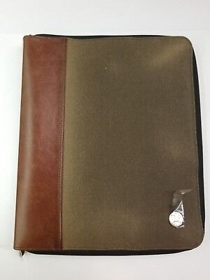 Nwd Manhattan Portage Waxed Canvas Crosstown Portfolio Writing Pad Case Tk150