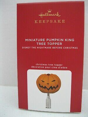 HALLMARK 2020 Disney Nightmare Before Christmas MINIATURE Pumpkin TREE TOPPER