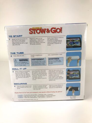 PUZZLE Stow Go Storage System Roll UP MAT 46 X26 Ravensburger Holds 1500 PC - $16.05