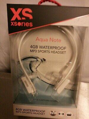 Xsories Aqua Note 4GB Schwimm MP3-Player wasserdicht weiss neu OVP! (Mp3 Wasserdicht)