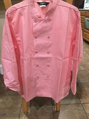 Womens 1st Quality Pink Chef Coat Sizes Small- Large Price 10.00
