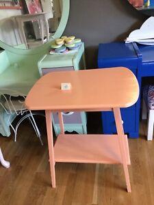 Soft orange accent table