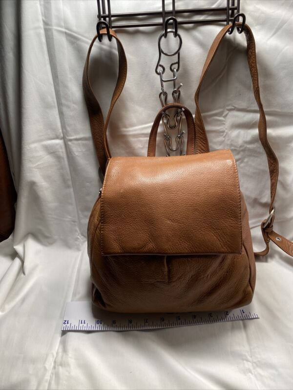 Wilson's Beige Leather  Backpack