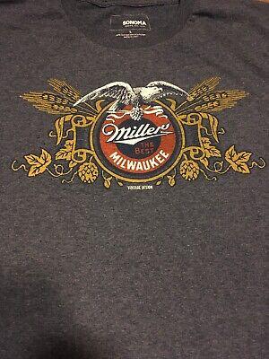 Miller Beer T Shirt Size L