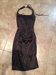 Le Chateau Black Dress Size XXS, New without Tag. MSRP $189.00