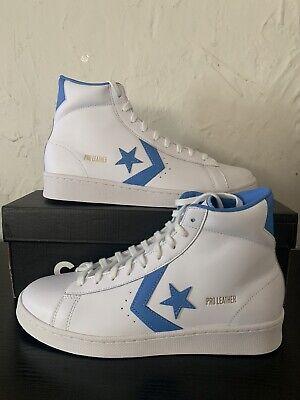 Converse Pro Leather Mid 76 Retro Classic White Coast Blue Sz 9.5...