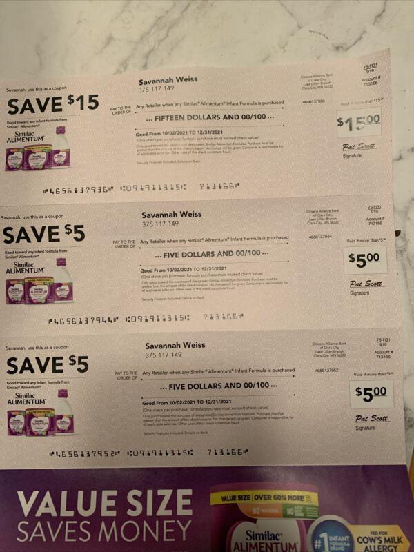 similac coupons checks